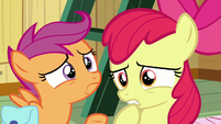 Apple Bloom starts to look worried S9E22