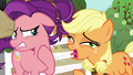 Applejack coughing loudly in Spoiled Milk's face S6E23.png