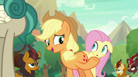 Applejack introduces herself and Fluttershy S8E23