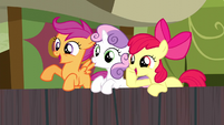 CMC cheering for Trouble Shoes S5E6