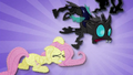 Changeling trips over Fluttershy BFHHS1.png