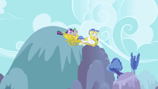 Файл:Chariot about to enter Ponyville S1E01.png