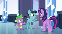 Crystal Hoof meets Princess Twilight Sparkle S6E16