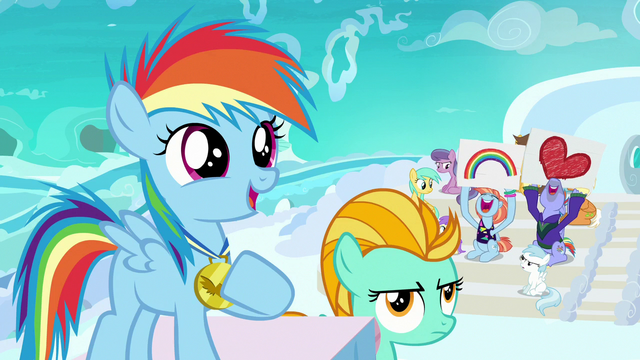 File:Filly Rainbow Dash proud of herself S7E7.png