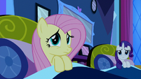 Fluttershy and Rarity in bed S5E13