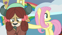 Fluttershy giving Angel his cue S9E7