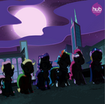 Main 6 as the Power Ponies promotional S4E06
