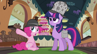 Pinkie Pie pointing S2E24