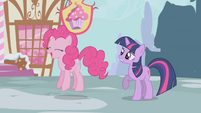 Pinkie hopping up and down S1E03