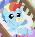 Rainbow Dash infant ID S7E7