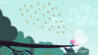 Seabreeze cornered by bees S4E16