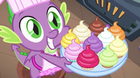Spike presents freshly baked cupcakes S8E24
