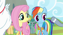 Spitfire taps on Rainbow's shoulder S4E10