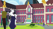 Students approaching Canterlot High School EG2