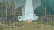 Twilight and Spike under spot of sunlight S1E03