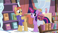 Twilight takes journal copy out of her bag S7E14