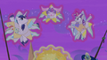 Velvet, Shining Armor, and Flurry dressed as stars S7E22.png
