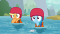 AJ and Rainbow watch the students' rescue S8E9.png