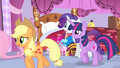 Applejack and Twilight leaving S4E19.png