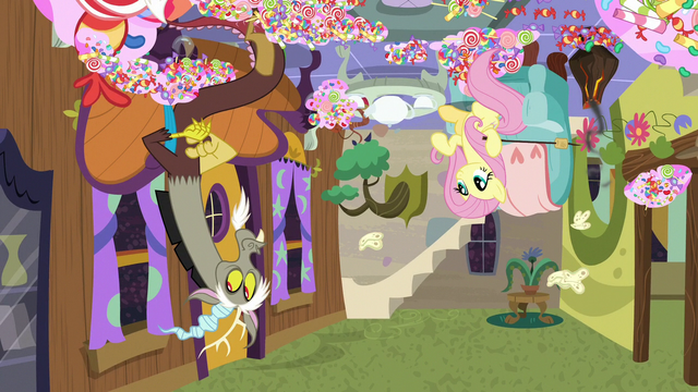 File:Discord and Fluttershy's upside-down tea party S7E12.png