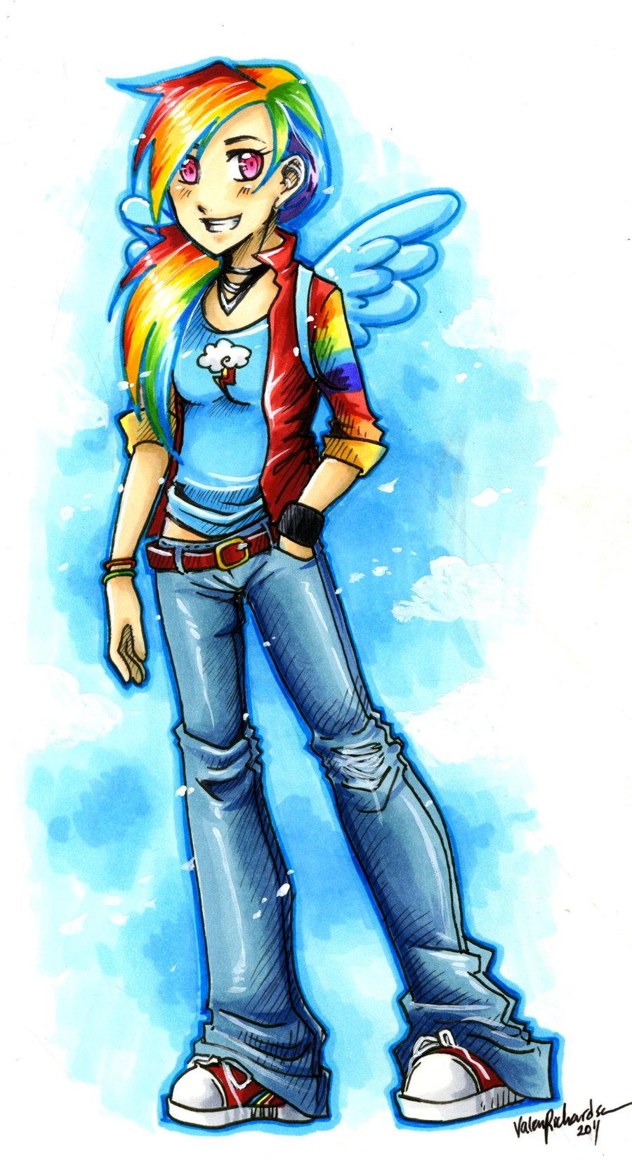 FANMADE Rainbow Dash By Valen Larae