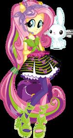 Fluttershy Rainbow Rocks character bio art