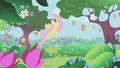 Fluttershy in the castle gardens S1E3.png