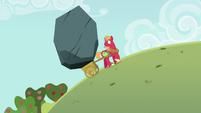 Giant boulder in Big Mac's apple cart S6E15