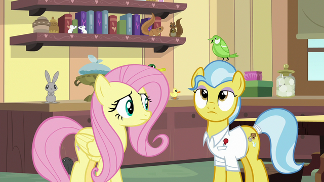 File:Green bird perches on Dr. Fauna's head S7E5.png