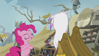 Pinkie -You may act like a gruff, grumbling griffon- S5E8
