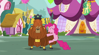 Pinkie hugs Rutherford S5E11