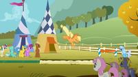 Ponies watch Applejack land S1E13