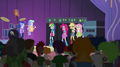 Rainbooms join the principals on stage EG2.png
