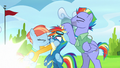 Rainbow's picture is taken while her parents smother her S7E7.png