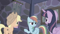 "Rainbow ""Fluttershy will have us out of here in no time!"" S5E02"