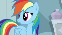 Rainbow looking back at Twilight S6E13