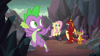 Spike beckons the others to follow him S9E9