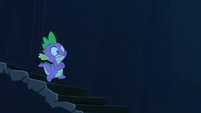 Spike going down to Twilight S3E2