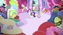 Spike sees all of Rarity's creations S4E23