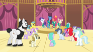 The Ponytones performing in front of several ponies S4E14