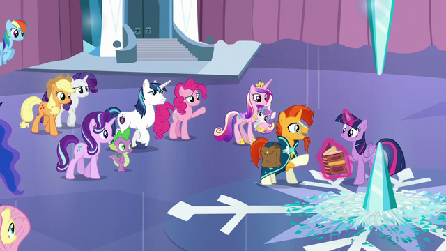 File:The other ponies gathering around S6E2.png