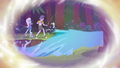 Trixie and Micro Chips water the river flow again EG4.png