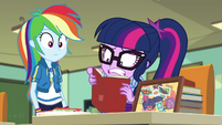 Twilight still trying to finish her extra credit EGDS22