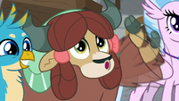 Yona excitedly raising her hoof S8E21
