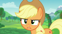 "Applejack ""he'd pull you from our charity festival"" S5E24"