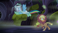 Applejack and Rainbow run from the monster S5E21.png