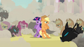 Applejack and changeling Twilight together S2E26.png