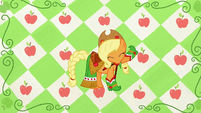Applejack with head down S1E14