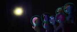 Bright light appears before the Mane Six MLPTM