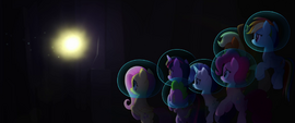 Bright light appears before the Mane Six MLPTM